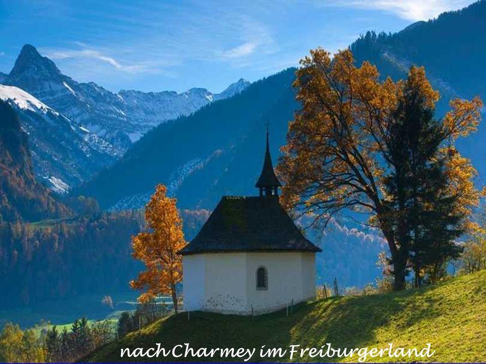 nach Charmey im Freiburgerland