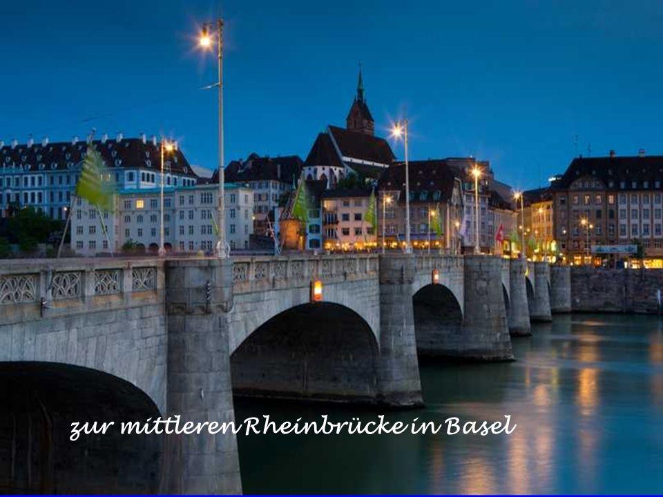 zur mittleren Rheinbrücke in Basel