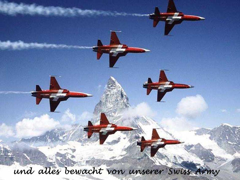und alles bewacht von unserer Swiss Army