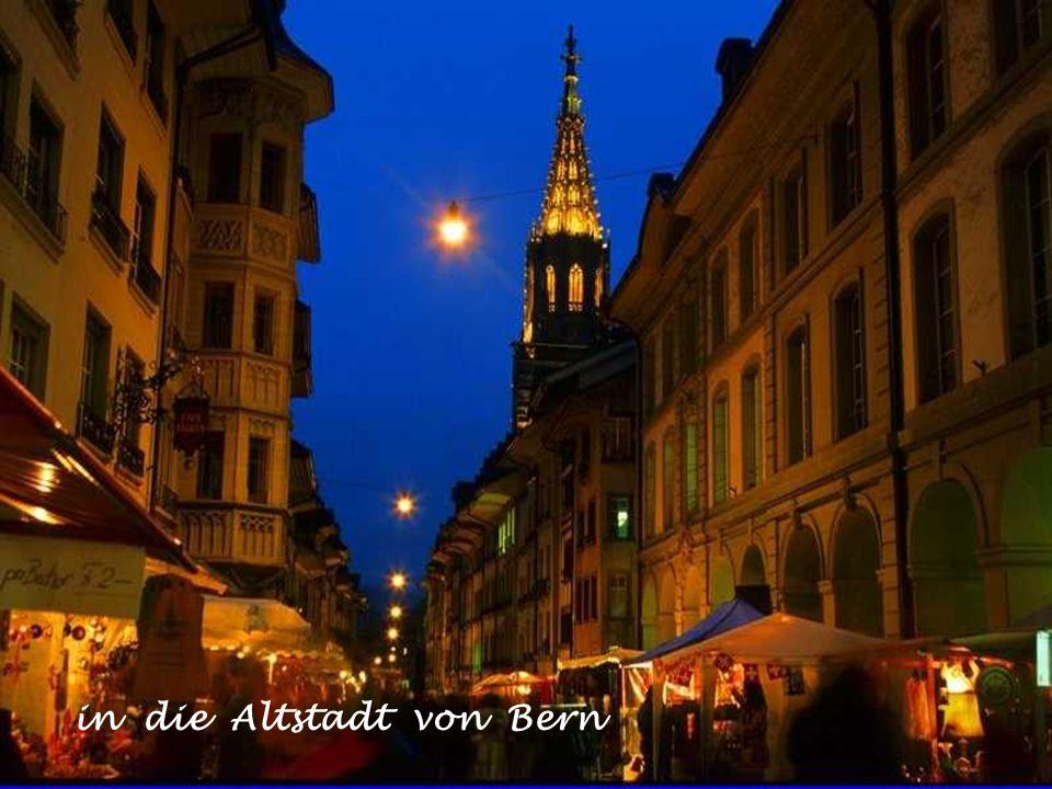 in die Altstadt von Bern