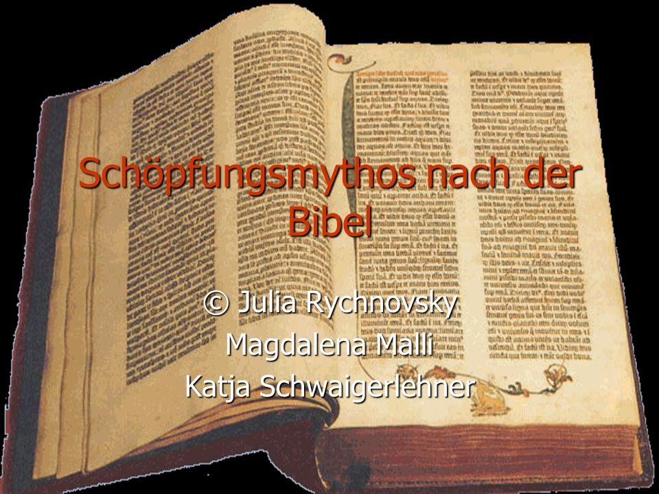 Schöpfungsmythos nach der Bibel