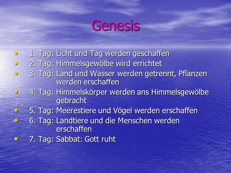 Genesis 1. Tag: Licht und Tag werden geschaffen