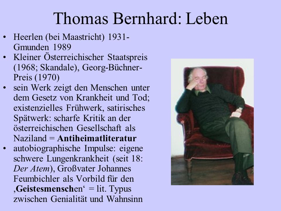Thomas Bernhard: Leben