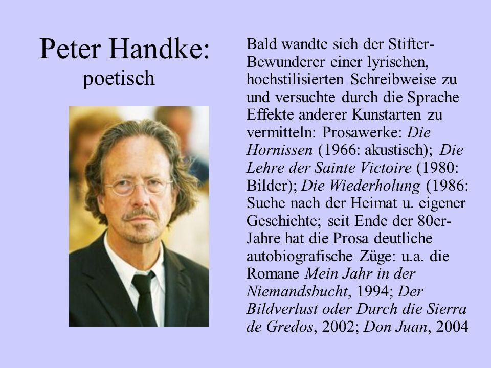 Peter Handke: poetisch