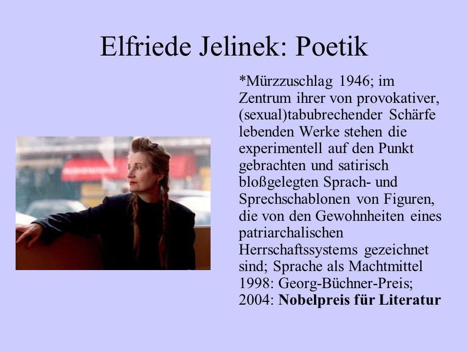 Elfriede Jelinek: Poetik