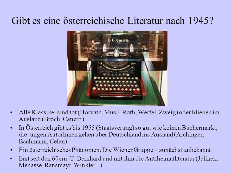 Gibt es eine österreichische Literatur nach 1945