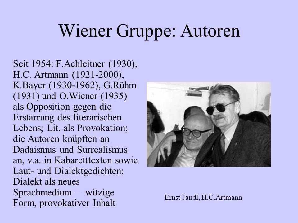 Wiener Gruppe: Autoren