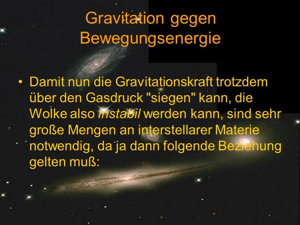 Gravitation gegen Bewegungsenergie