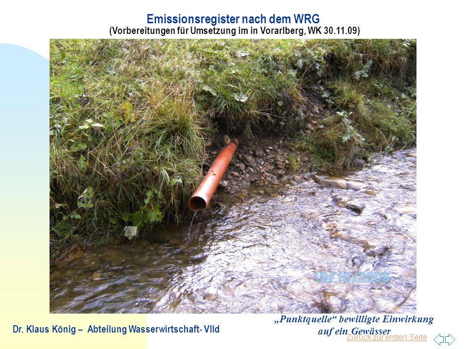 """""""Punktquelle bewilligte Einwirkung auf ein Gewässer"""