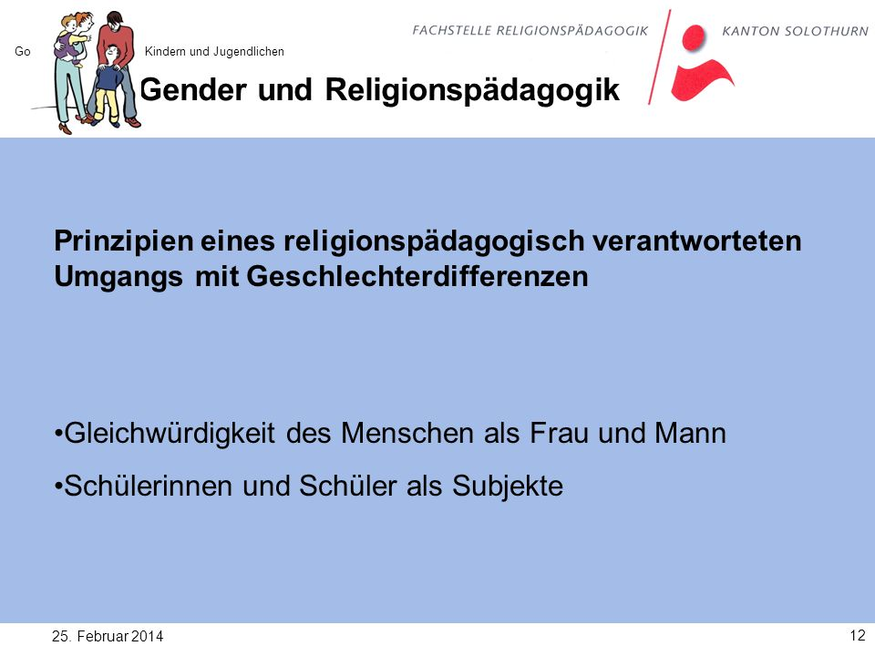 Gender und Religionspädagogik
