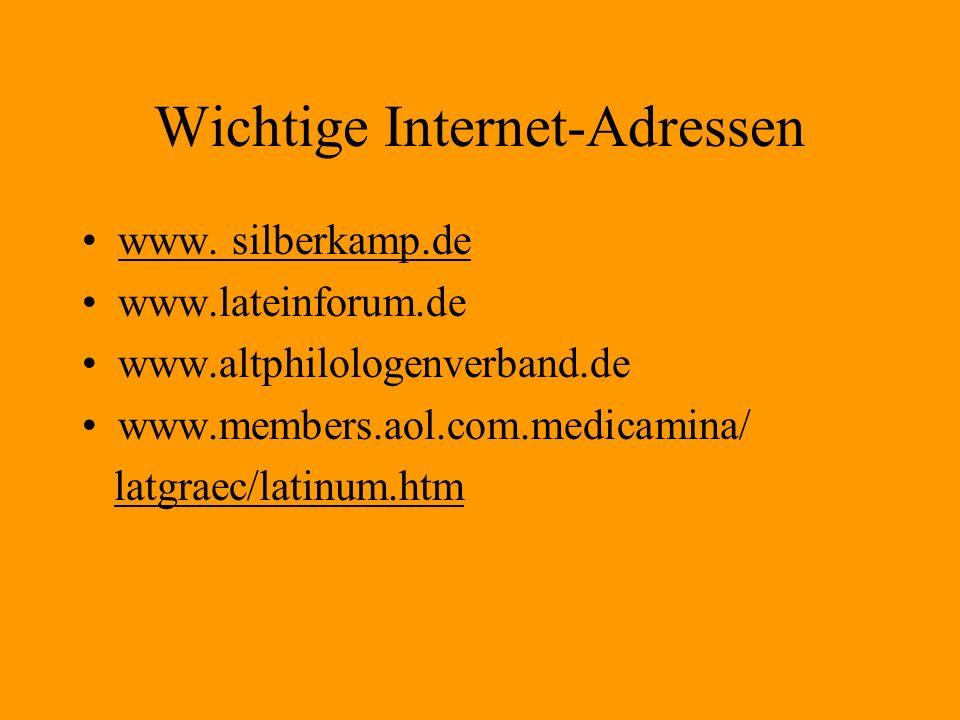 Wichtige Internet-Adressen