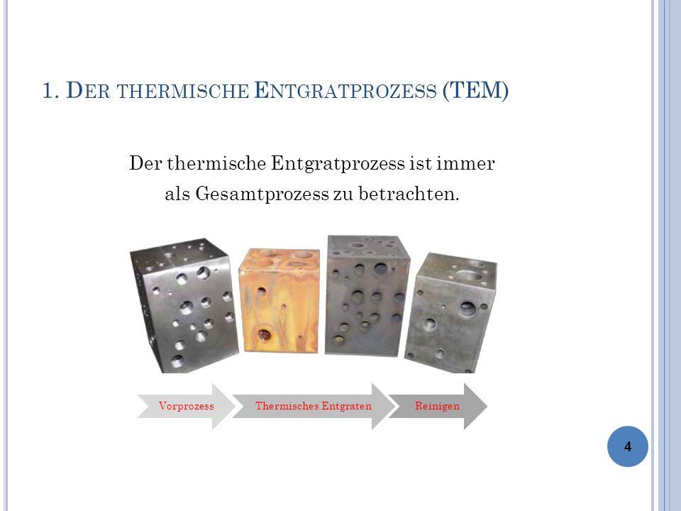 1. Der thermische Entgratprozess (TEM)