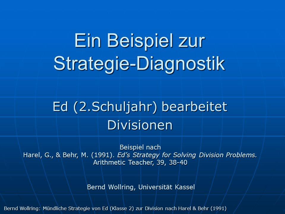 Ein Beispiel zur Strategie-Diagnostik