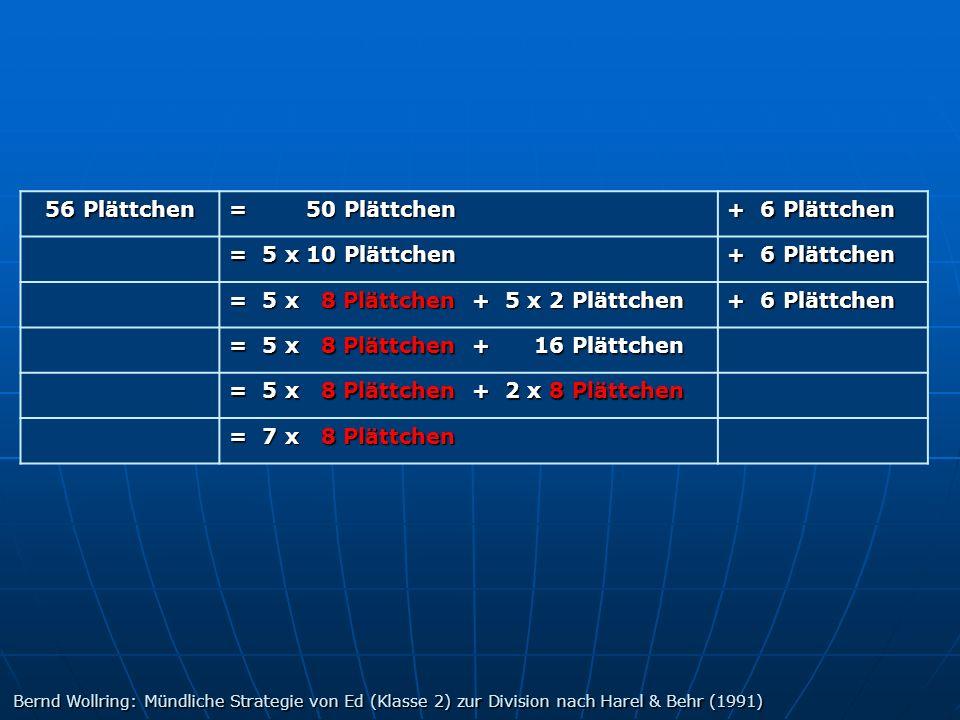 = 5 x 8 Plättchen + 5 x 2 Plättchen = 5 x 8 Plättchen + 16 Plättchen