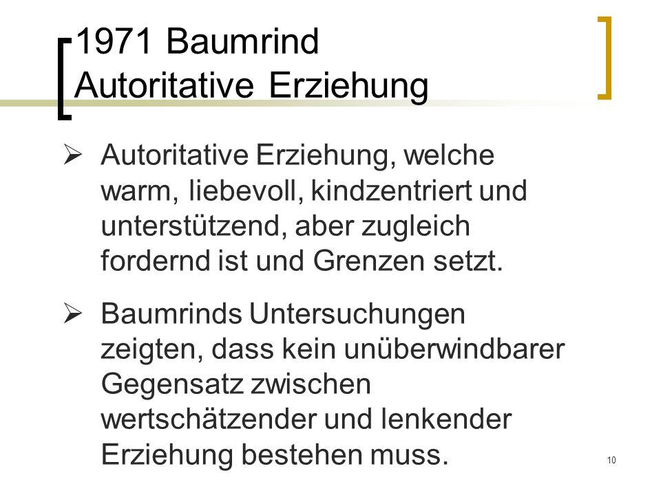 1971 Baumrind Autoritative Erziehung