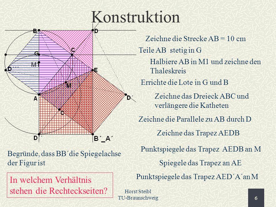 Konstruktion In welchem Verhältnis stehen die Rechteckseiten
