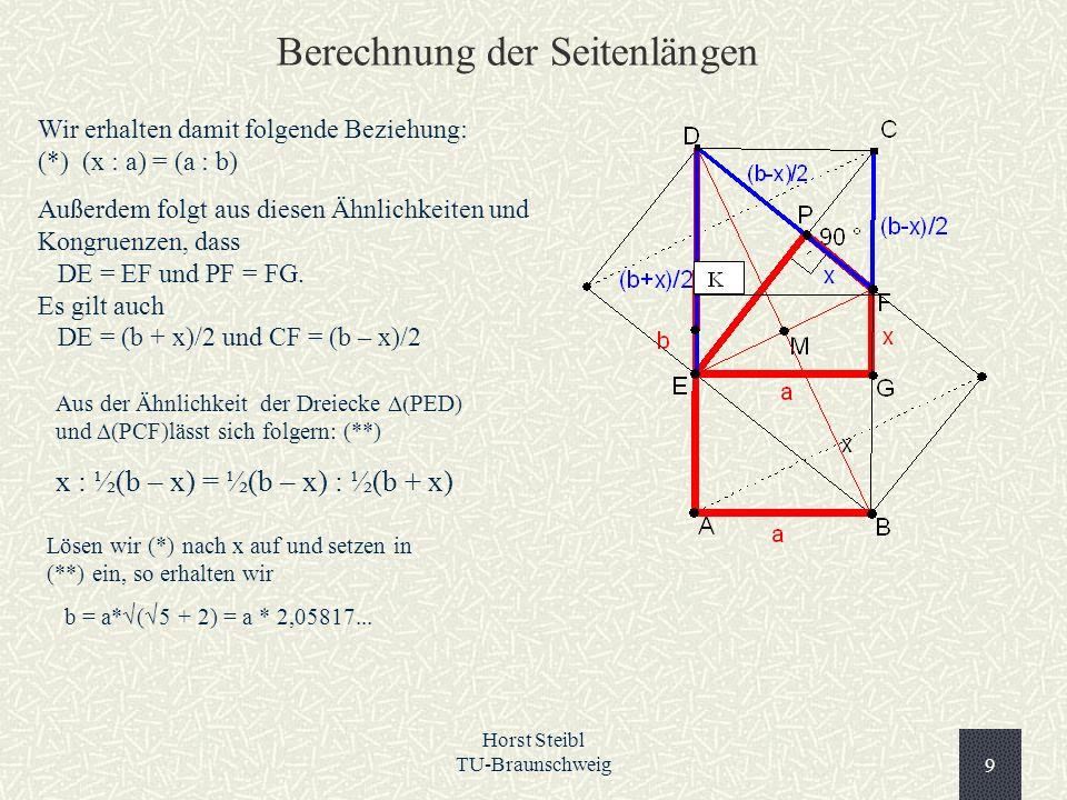 Berechnung der Seitenlängen