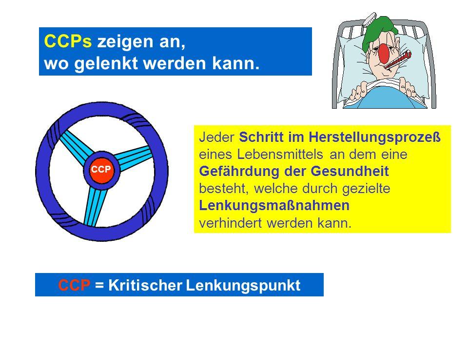 CCP = Kritischer Lenkungspunkt