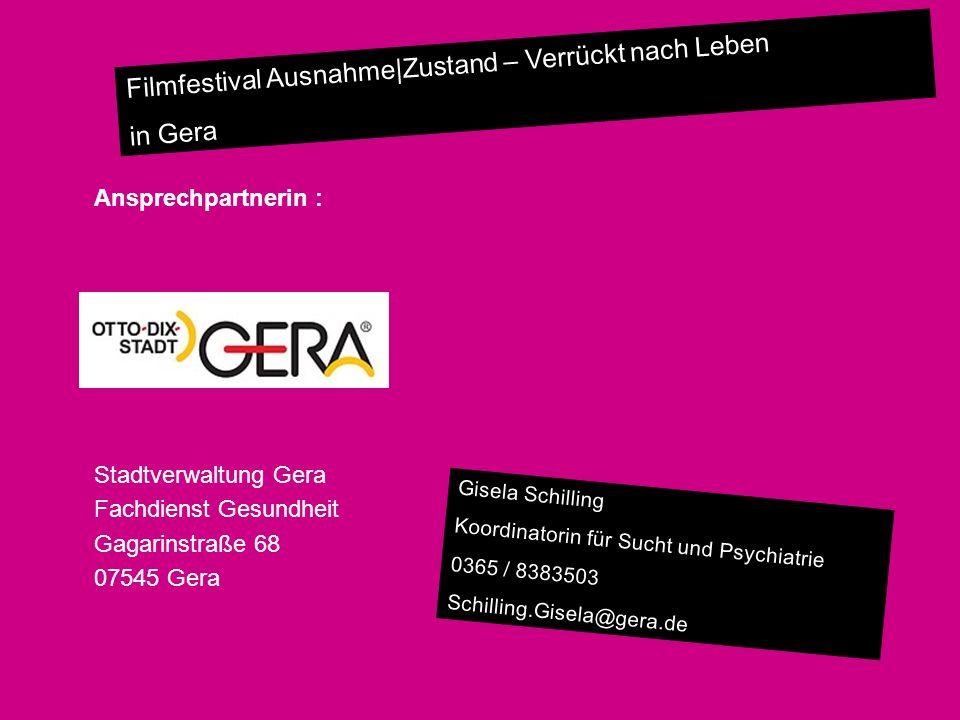 Fachdienst Gesundheit Gagarinstraße 68 07545 Gera
