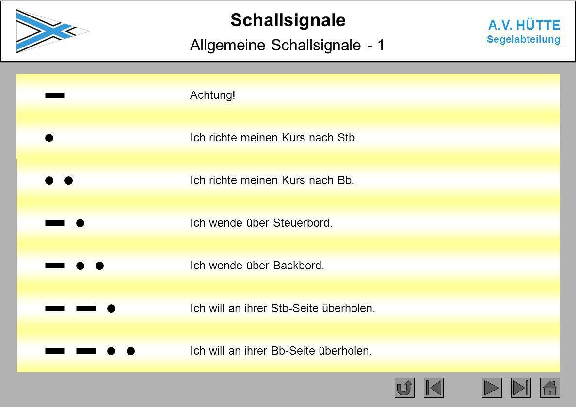 Allgemeine Schallsignale - 1