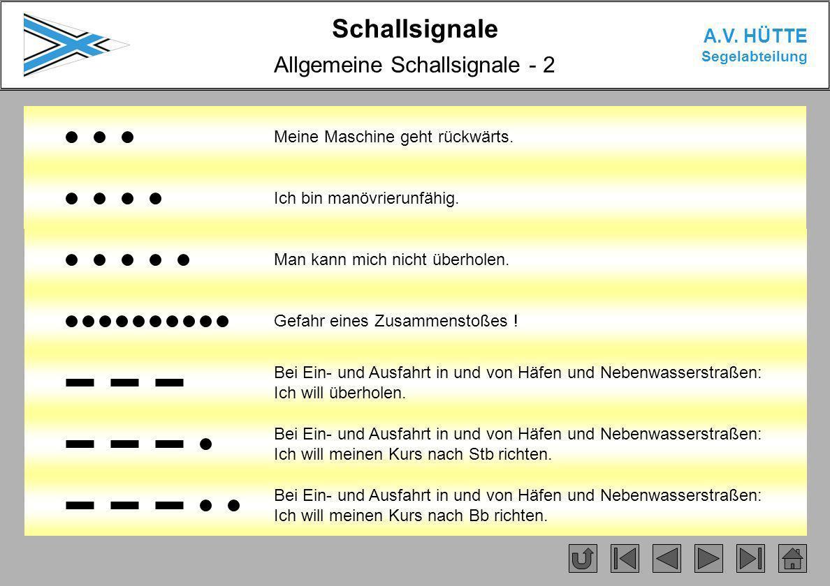 Allgemeine Schallsignale - 2