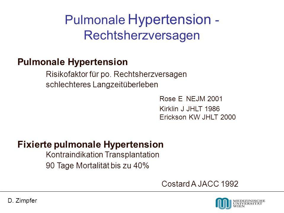 Pulmonale Hypertension - Rechtsherzversagen