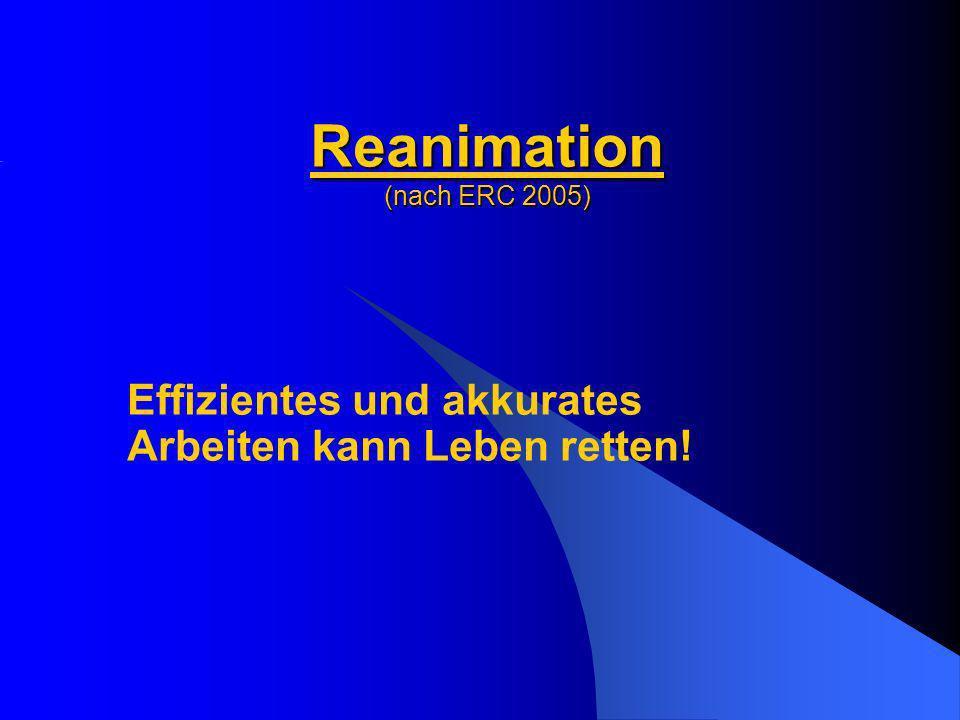 Reanimation (nach ERC 2005)