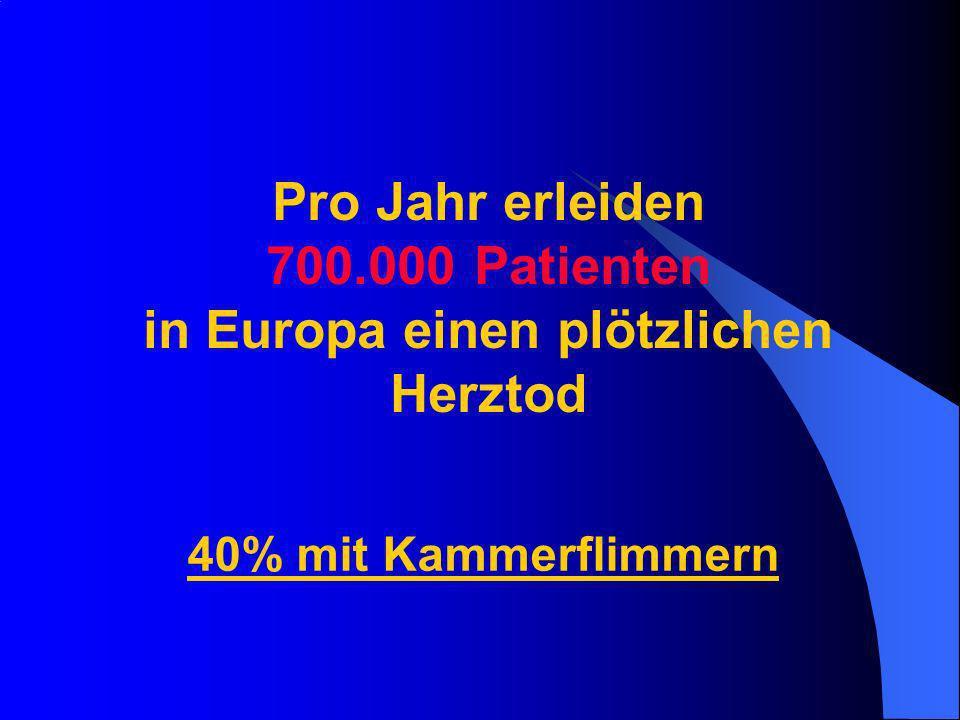 Pro Jahr erleiden 700.000 Patienten in Europa einen plötzlichen Herztod