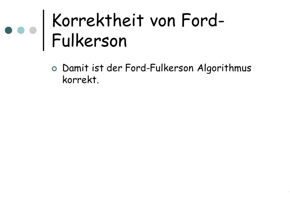Korrektheit von Ford-Fulkerson