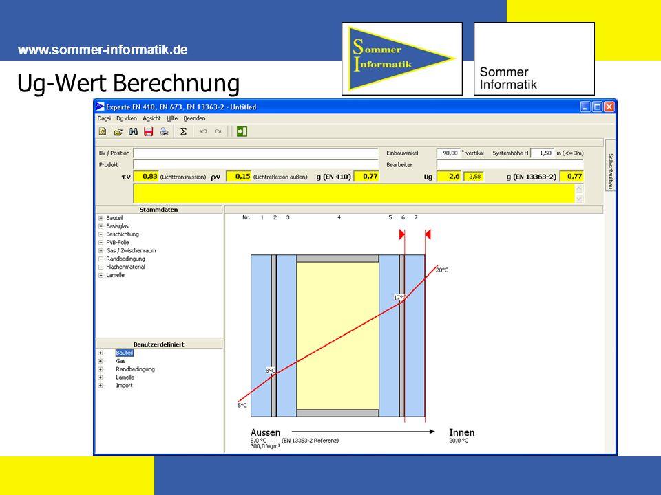 Ug-Wert Berechnung www.sommer-informatik.de