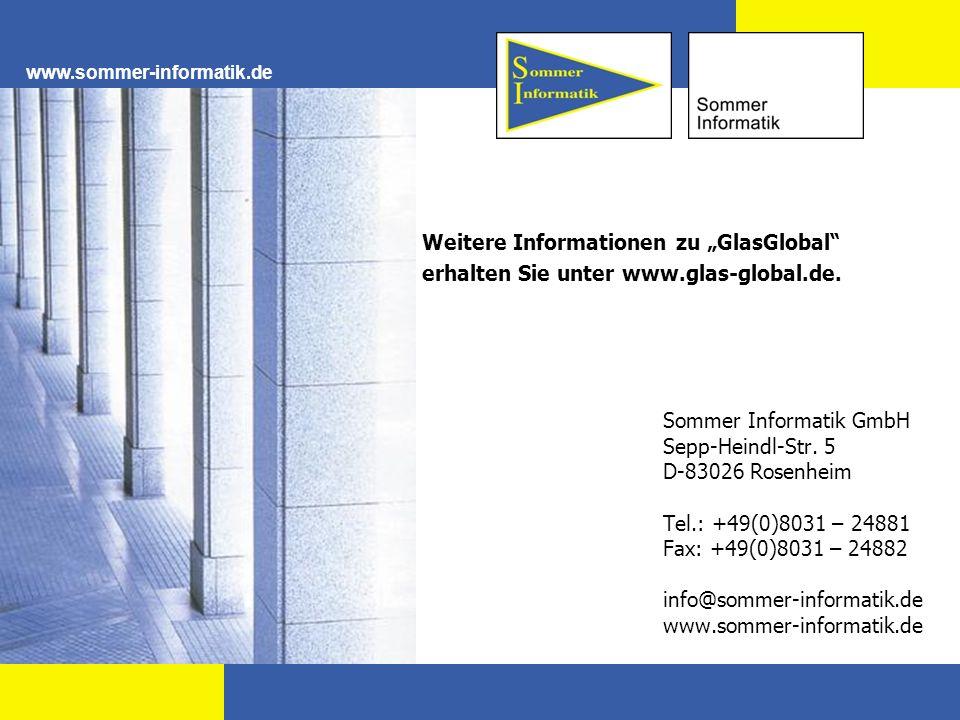 """Weitere Informationen zu """"GlasGlobal"""