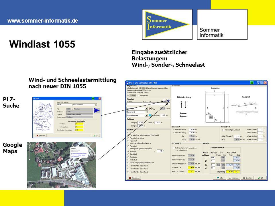 Windlast 1055 www.sommer-informatik.de Eingabe zusätzlicher