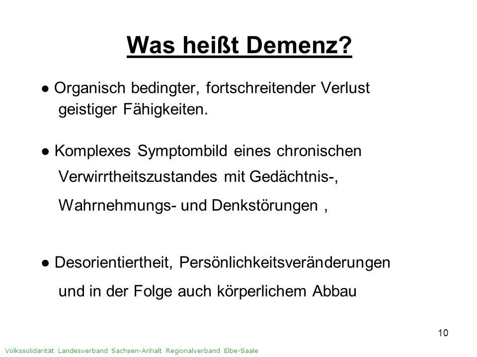 Was heißt Demenz geistiger Fähigkeiten.