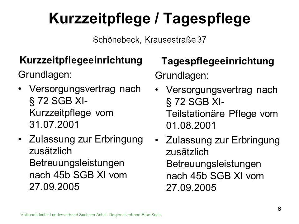 Kurzzeitpflege / Tagespflege Schönebeck, Krausestraße 37