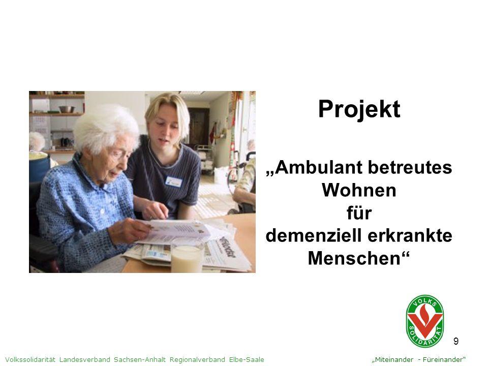 """Projekt """"Ambulant betreutes Wohnen für demenziell erkrankte Menschen"""
