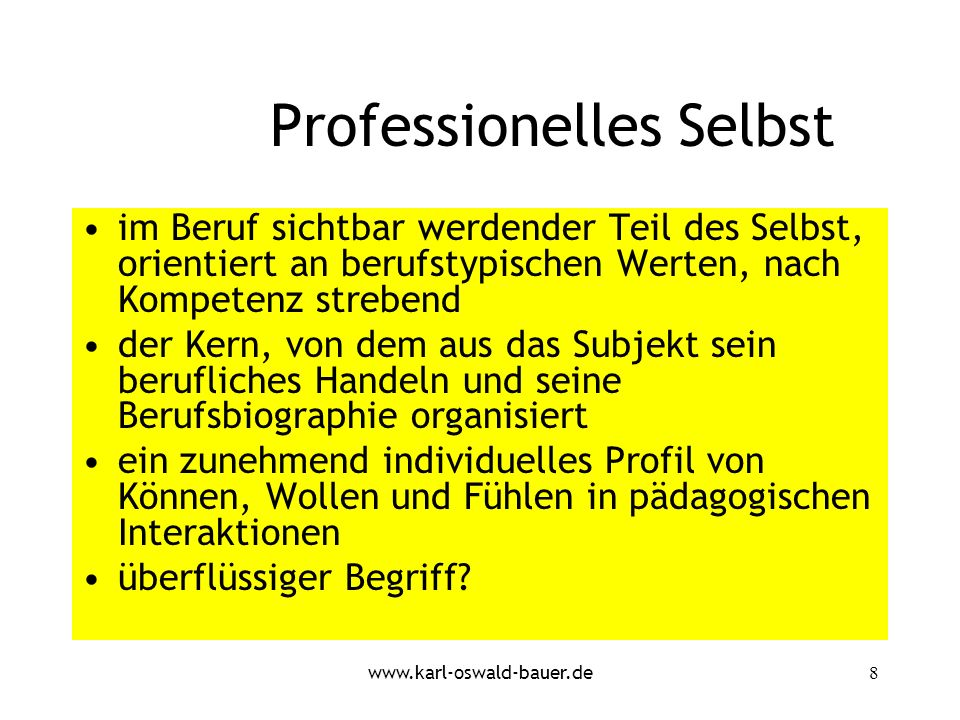 Professionelles Selbst