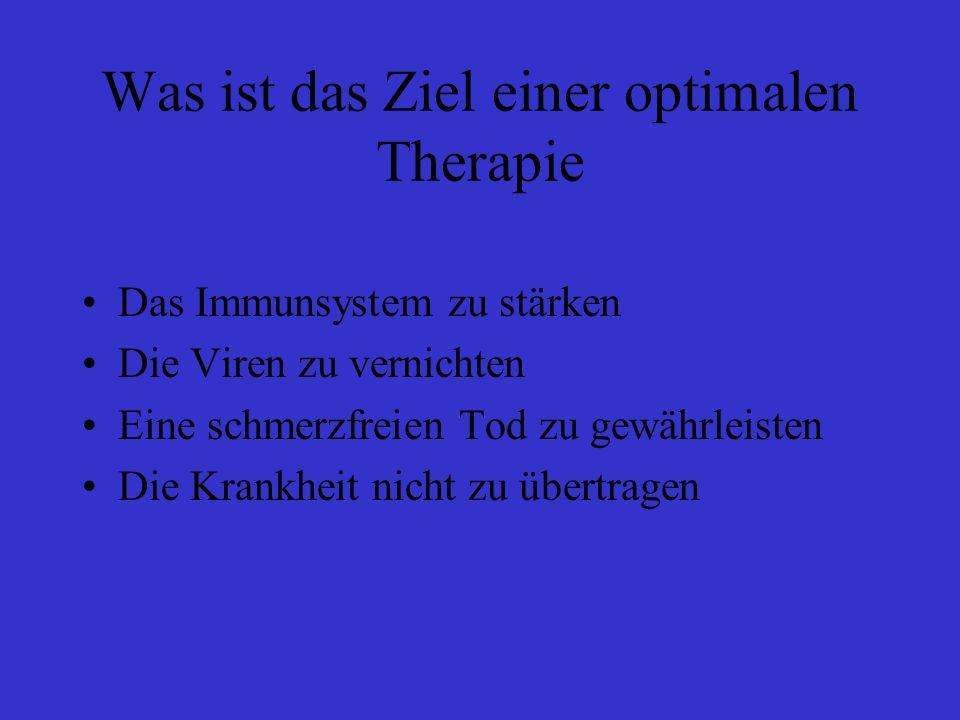 Was ist das Ziel einer optimalen Therapie