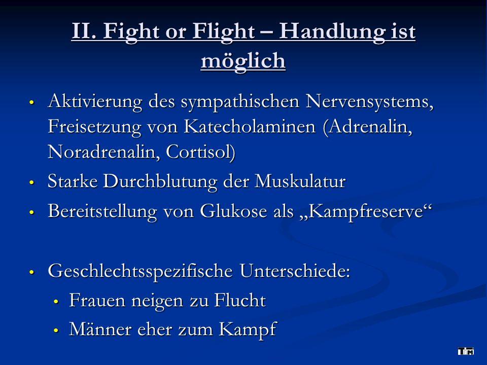 II. Fight or Flight – Handlung ist möglich