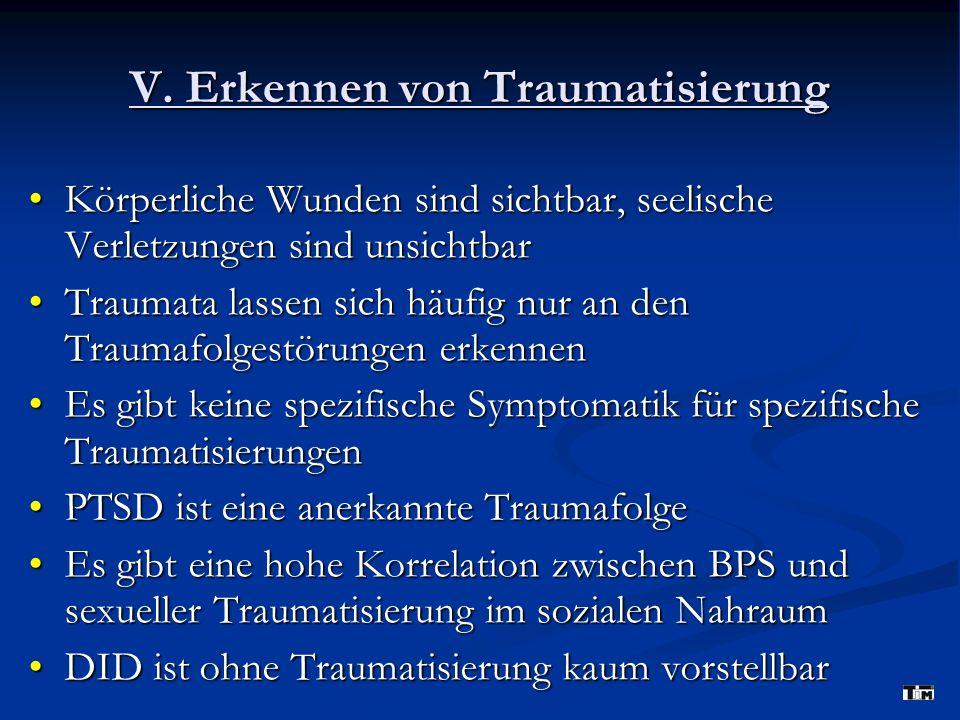 V. Erkennen von Traumatisierung