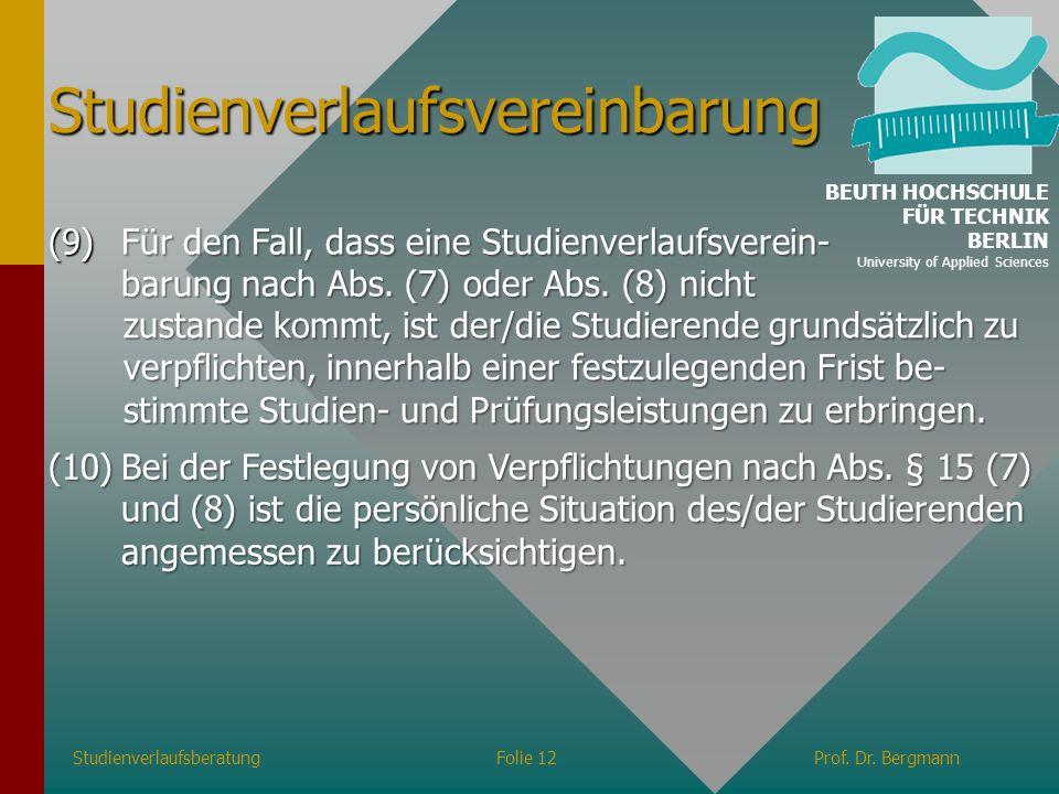 Studienverlaufsvereinbarung
