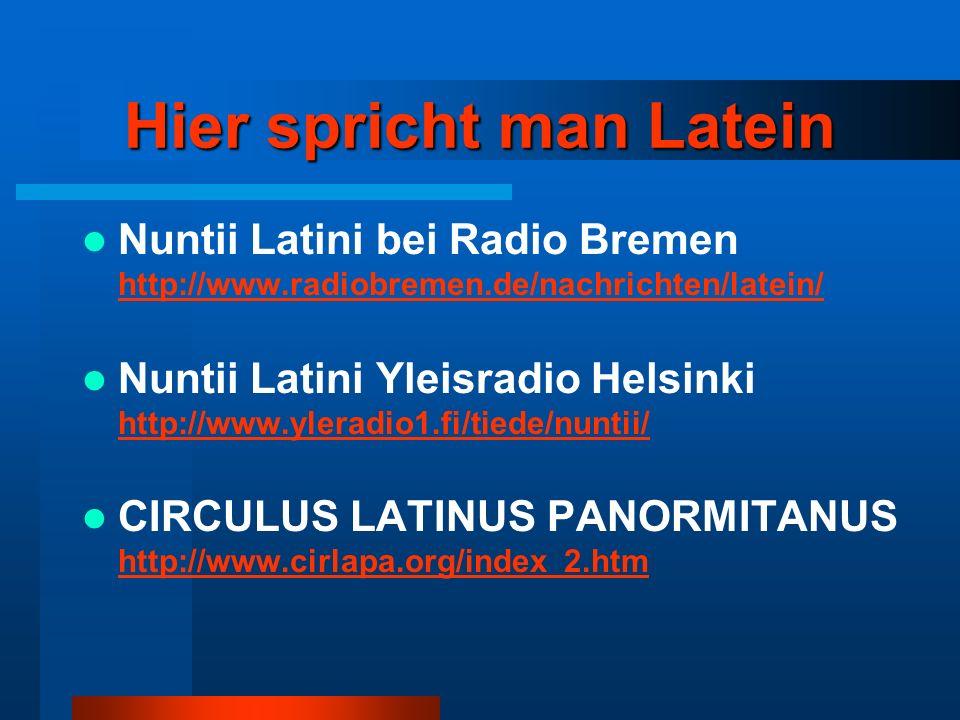 Hier spricht man Latein