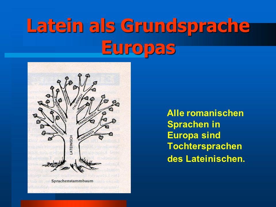 Latein als Grundsprache Europas