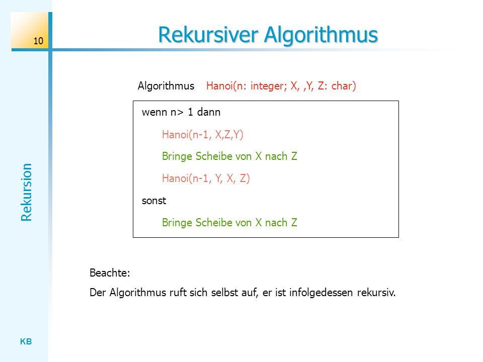 Rekursiver Algorithmus