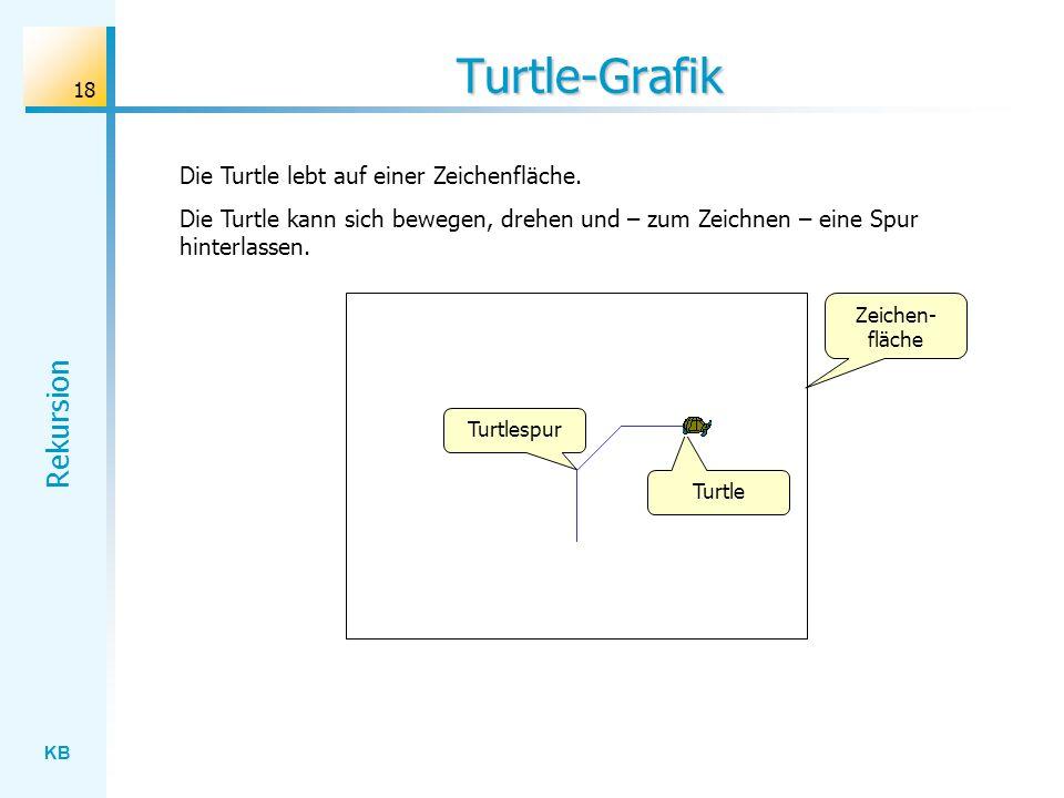 Turtle-Grafik Die Turtle lebt auf einer Zeichenfläche.