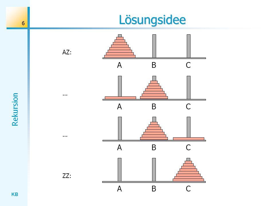Lösungsidee AZ: A B C ... A B C ... A B C ZZ: A B C