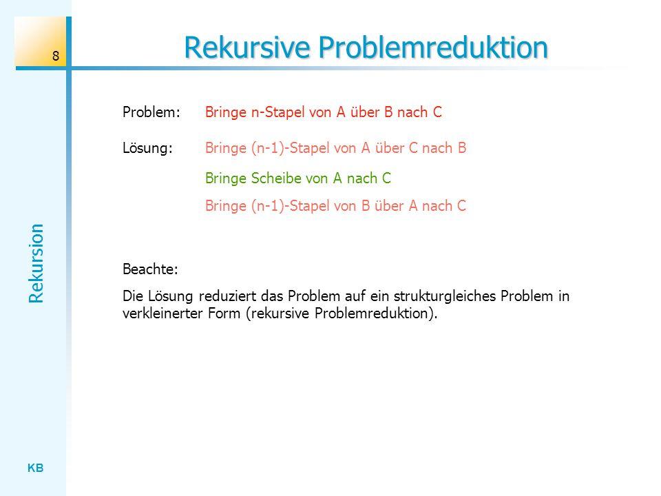 Rekursive Problemreduktion