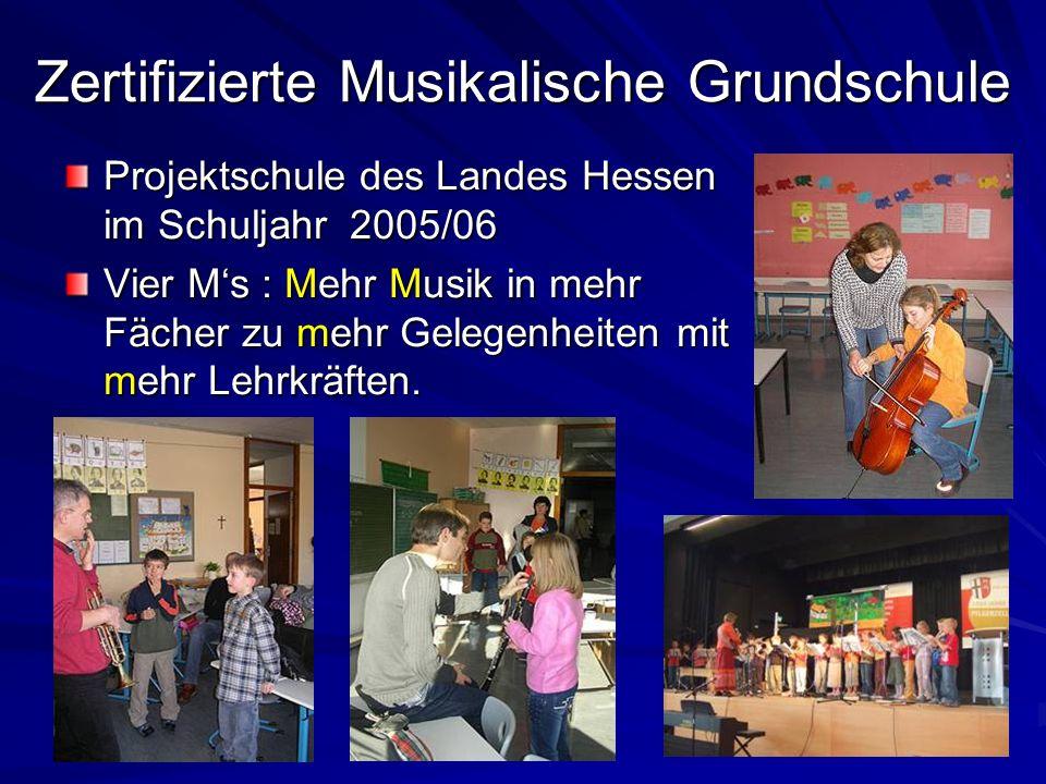 Zertifizierte Musikalische Grundschule