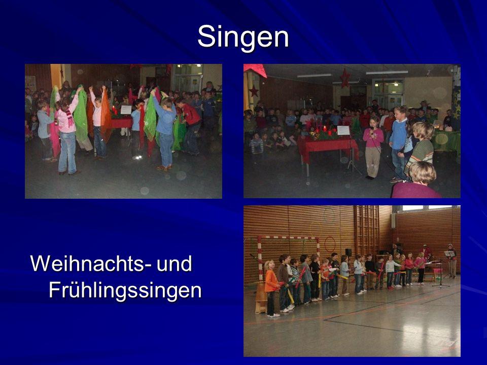 Singen Weihnachts- und Frühlingssingen