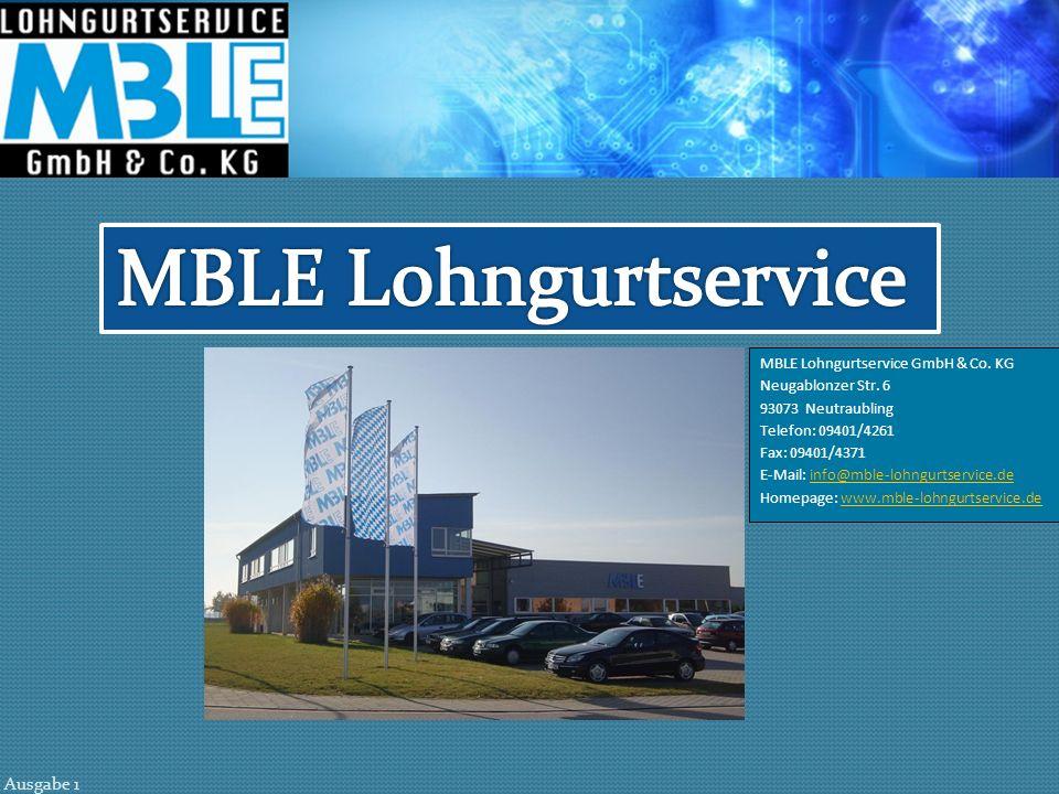 MBLE Lohngurtservice MBLE Lohngurtservice GmbH & Co. KG