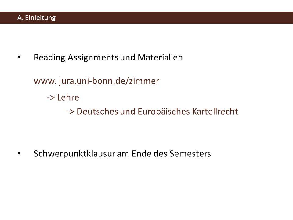 Reading Assignments und Materialien www. jura.uni-bonn.de/zimmer